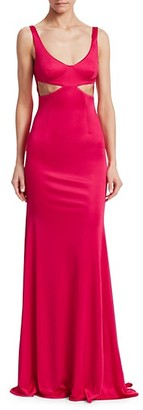 Roberto Cavalli Cut Out Jersey Column Gown