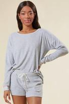 PJ Salvage Grey Terry Sweatshirt Grey XS