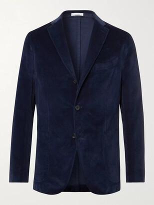 Boglioli Kei Slim-Fit Unstructured Garment-Dyed Cotton-Velvet Blazer