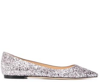 Jimmy Choo glitter ballerina pumps