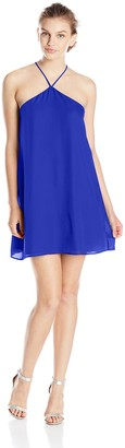 Lucy-Love Lucy Love Women's Almost Famous Sleeveless Halter Party Dress
