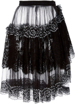 Rodarte Metallic Lace and Tulle Skirt