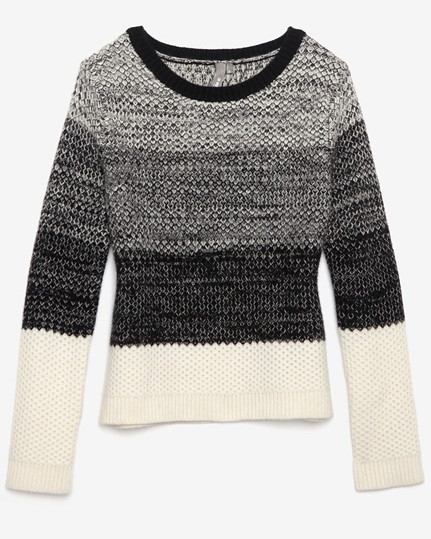 Shae Exclusive Marled Sweater: Black/white