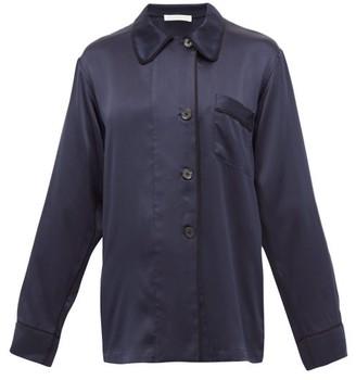 Araks Kate Silk-charmeuse Pyjama Shirt - Navy