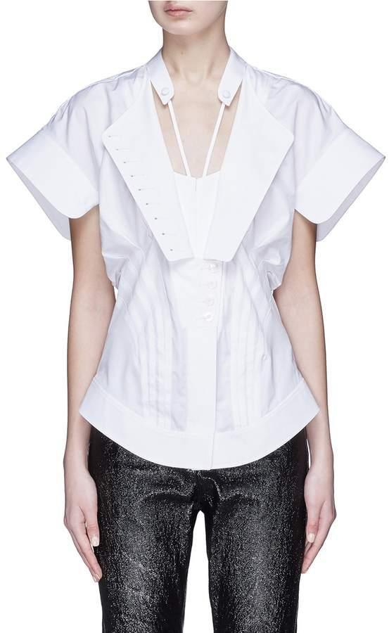 Alexander Wang Pintuck deconstructed poplin shirt