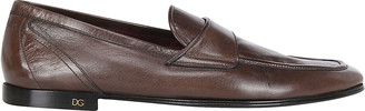 Dolce & Gabbana Monogram Plaque Loafers