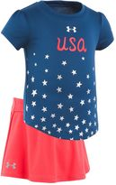 Under Armour Baby Girl USA Rising Star Tee & Skort Set