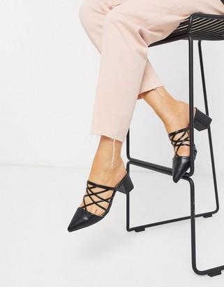 Raid Darla strappy mid heeled shoes in black