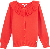 E-Land Kids Red Ruffle Cardigan - Toddler & Girls