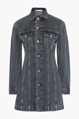 Helmut Lang Femme Trucker Faded Denim Mini Dress