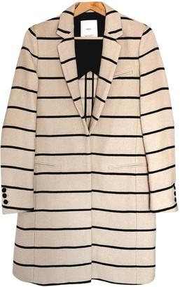 MANGO Beige Cotton Coat for Women