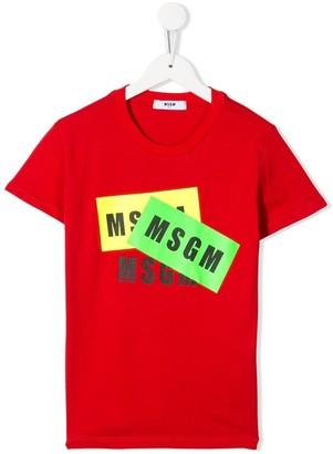 Msgm Kids logo print T-shirt