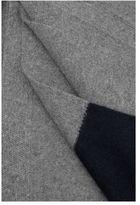 IN BED Cashmere Throw - Dark Grey / Navy Stripe