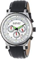 August Steiner Men's AS8085SS Analog Display Japanese Quartz Black Watch