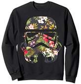 Star Wars Unisex Tropical Stormtrooper Floral Print Sweatshirt Medium Black