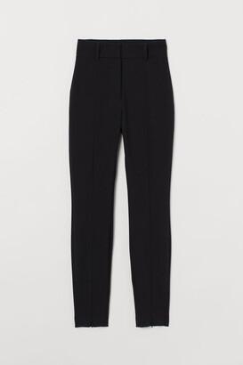 H&M Zip-hem Pants - Black