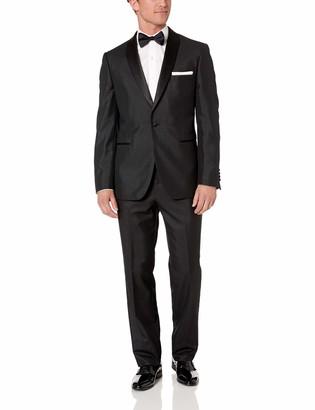 SE SALVATORE EXTE Men's One Button Tuxedo Suit Shawl Lapel