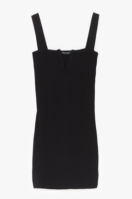 Nasty Gal Womens Good to V Bodycon Mini Dress - Black - 8, Black