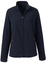 Lands' End Women's Tall Fleece Jacket-Red