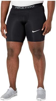 Nike Big Tall Pro Shorts (Black/White) Men's Shorts