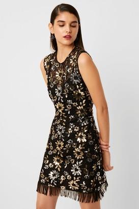 French Connenction Fia Lace Sparkle Sequin Dress
