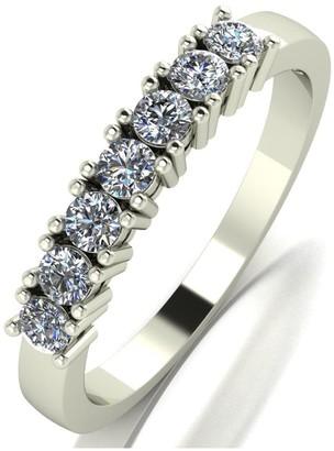 Love Diamond 9ct gold claw set 50 point diamond eternity ring