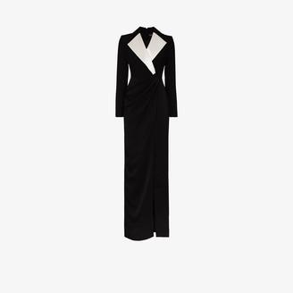 Rasario Contrast Lapel Blazer Gown