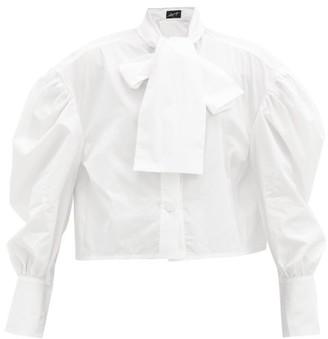 Elzinga - Balloon-sleeve Cotton-poplin Shirt - White