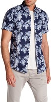 Heritage Floral Print Sport Slim Fit Snap Button Tee