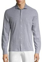 Isaia Piquet Long Sleeves Polo Shirt