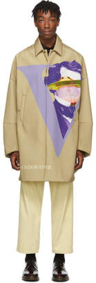Undercover Beige Valentino Edition V Face UFO Print Coat