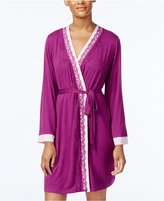 Alfani Lace-Trimmed Wrap Robe, Only at Macy's