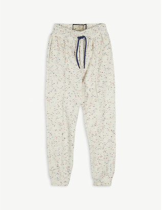 Prevu Milas flecked towelling cotton-blend jogging bottoms 4-14 years