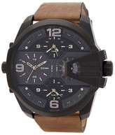 Diesel Men's Uber Chief Chronograph Leather Strap Watch