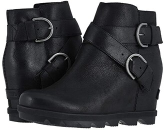 Sorel Joan of Arctic Wedge II Buckle (Black) Women's Boots