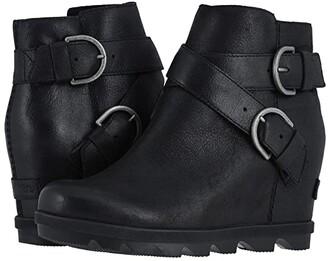 Sorel Joan of Arctictm Wedge II Buckle (Black) Women's Boots