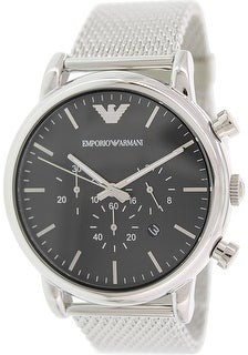Emporio Armani Men's Classic Silver Stainless-Steel Plated Dress Watch