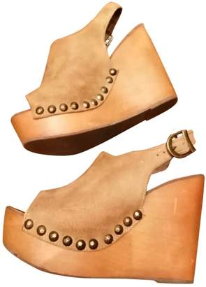 Jeffrey Campbell Brown Leather Mules & Clogs