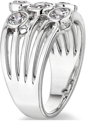 9K White Gold 1.00Ct Bubble Diamond Ring