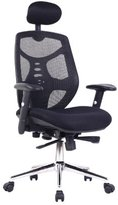 Eliza Tinsley Mesh High Back Executive Swivel Desk Armchair with Chrome Base - Black