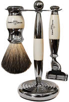 Jagger 3-Piece Ivory Nickel Plated Mach 3 Shaving Set by Edwin 3pcs Shave Set)