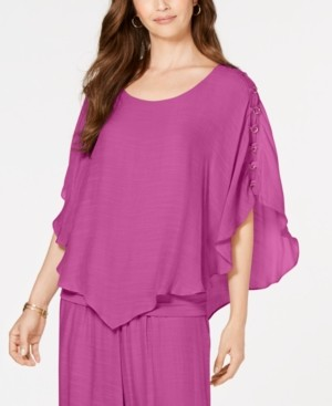 JM Collection Gauze Cape Gauze Top, Created for Macy's
