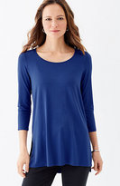 J. Jill Wearever Scoop-Neck Elliptical Tunic