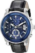 GUESS GUESS? Men's U0673G4 Chronograph Watch with Iconic Blue Dial and Date Functio