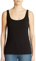 Lord & Taylor Petite Iconic Fit Slimming Scoopneck Tank