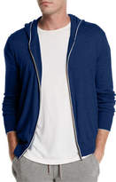 Loro Piana Cashmere-Cotton Zip-Front Hoodie