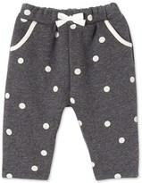 Petit Bateau Baby girls pants in polka dot cotton fleece