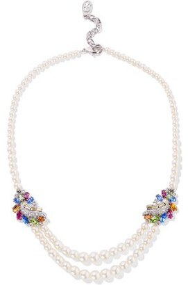 Ben-Amun Silver-tone, Swarovski Crystal And Faux Pearl Necklace