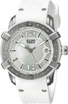 Elini Barokas Women's ELINI-20005D-02-WHT Spirit Analog Display Swiss Quartz Watch