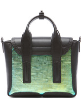 3.1 Phillip Lim Mini Pashli Satchel in Blue-Green & Black